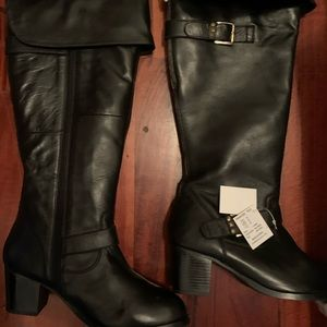 OTK Plus size wide  Eloquii Leather boots!